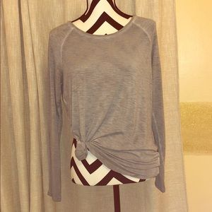 Super Soft, Thin, Light Gray Long Sleeve Shirt